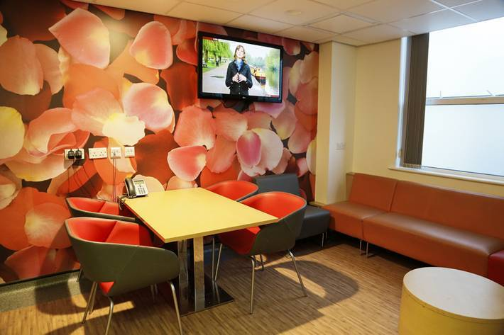 Nhs main reception and subwait areas surrey biid for Kitchen ideas frimley