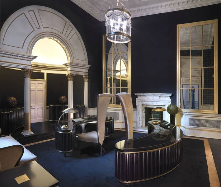 An interior design for a grade one listed building in for Interior designers central london