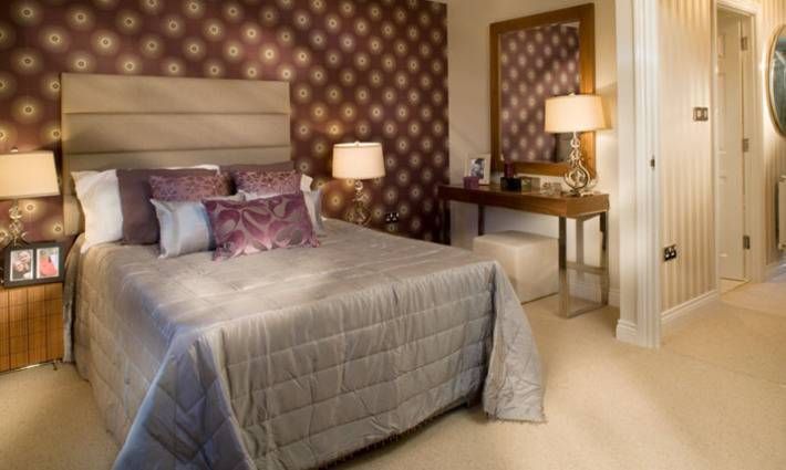 One of the luxurious bedrooms in the three storey executive town house. Show Homes   BIID