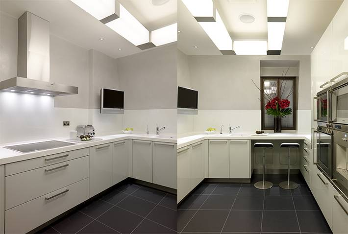 Interesting White Kitchen Units Black Worktop Design Inspiration - Pale grey kitchen units