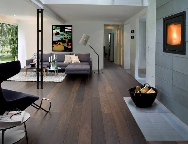 Junckers Solid Black Oak Wooden Floor Biid